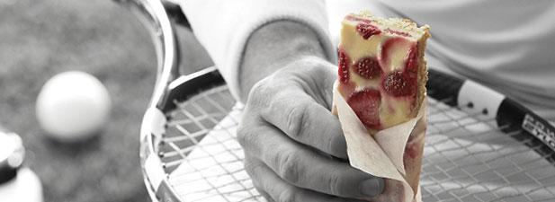 Barre tendre au sirop d'érable et fraises