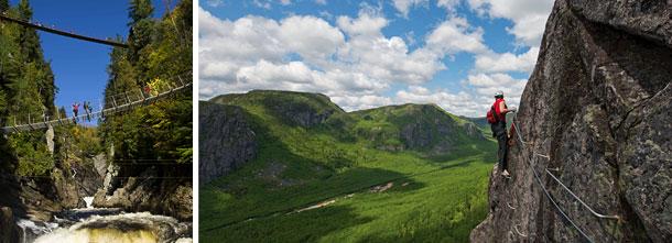 Canyon Sainte-Anne et le parc national des Grands-Jardins
