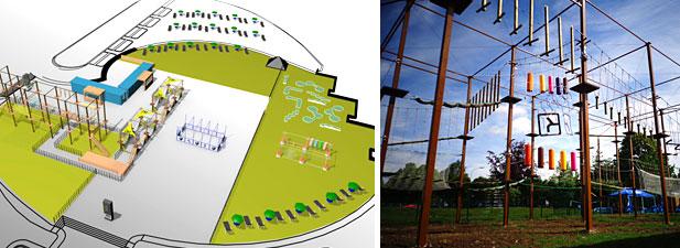 Maquette du parc Exalto / Parc acrobatique en France