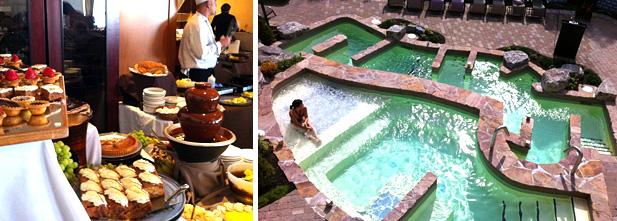 Brunch avec fontaine de chocolat et bain Amérispa
