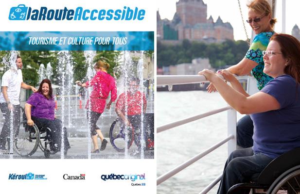 Gauche – La Route Accessible, Droite – Crédit photo, TQ/M.Julien