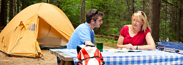 Camping au parc national du Mont-Tremblant, 