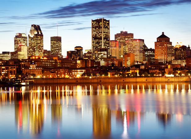 Montréal, vue du fleuve. Crédit photo : Tourisme Montréal
