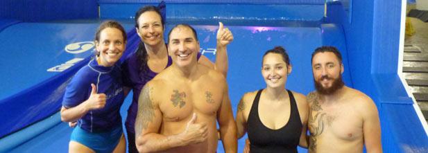 La gagnante Nathalie Beauchamp avec son mari Patrick, sa fille Valérie, son gendre Joé et notre blogueuse Christine