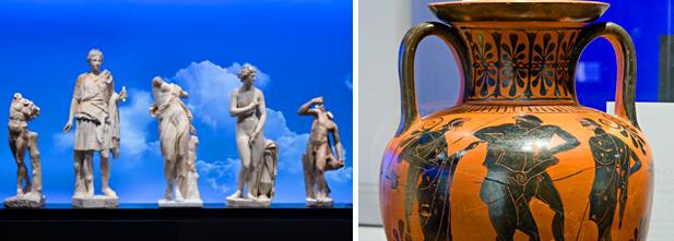DIvinités mythologique, Collections d'Antiquités des Musées nationaux à Berlin, Crédit : Jessy Bernier, Perspective.