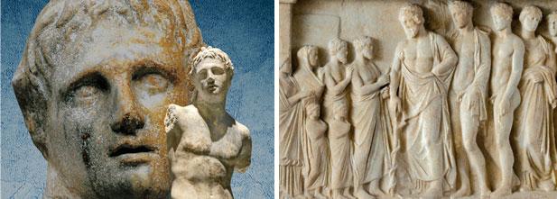 Sculpture grecque - Bas-relief représentant Asclépios
