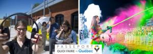 Gauche: Parcours urbain «Premier Shift» de Boréalis. Droite: Life in Color au Festivent Ville de Lévis.