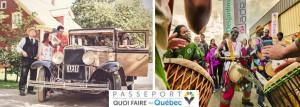 Gauche: Village Québécois d'Antan. Droite: Festival des traditions du monde de Sherbrooke.