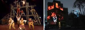 Gauche: Festival western de St-Tite. Droite: Montréal en Histoires